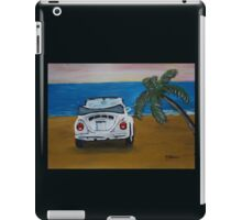 The White Volkswagen Bug At The Beach iPad Case/Skin