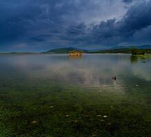 Church in lake by jordanrusev