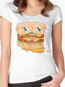 WELCOME TO PUG BURGER Women's Fitted Scoop T-Shirt