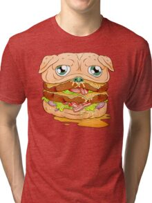 WELCOME TO PUG BURGER Tri-blend T-Shirt