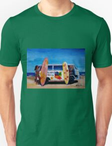 Surf Bus Series - The Lady Flower Power VW Bus Unisex T-Shirt