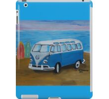 The Vw blue Volkswagen Bulli surfbus  iPad Case/Skin