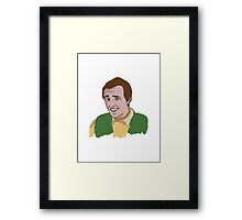Alan Partridge Digital Drawing  Framed Print