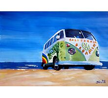 Surf Bus Series - California Dreaming VW Bus Photographic Print