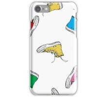 Colorful Seamless Pattern with Vintage Sneakers iPhone Case/Skin