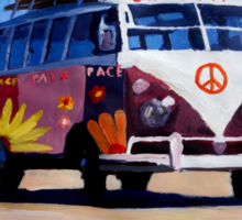 Surf Bus Series - The Groovy Peace VW Bus Sticker