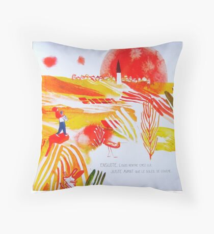 Going home before sunset Throw Pillow