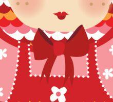 russian doll - pink Sticker