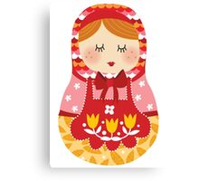 russian doll - pink Canvas Print