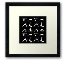 Yoga poses silhouette Framed Print