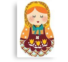 russian doll - yellow Canvas Print