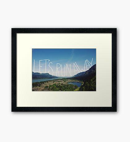 Let's Run Away VIII Framed Print