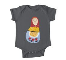 russian doll - blue One Piece - Short Sleeve