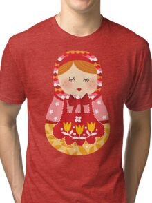 russian doll - pink Tri-blend T-Shirt