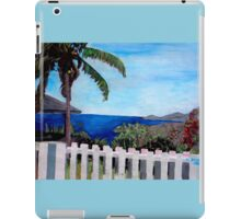 White Fence at English Harbour, Antigua, West Indies iPad Case/Skin