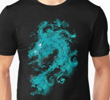 BLUE WATER DRAGON IN BLACK Unisex T-Shirt