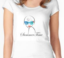 Lady with Style for summer time  Women's Fitted Scoop T-Shirt