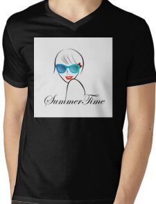 Lady with Style for summer time  Mens V-Neck T-Shirt