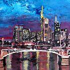 Frankfurt Main Germany - Mainhattan Skyline by artshop77