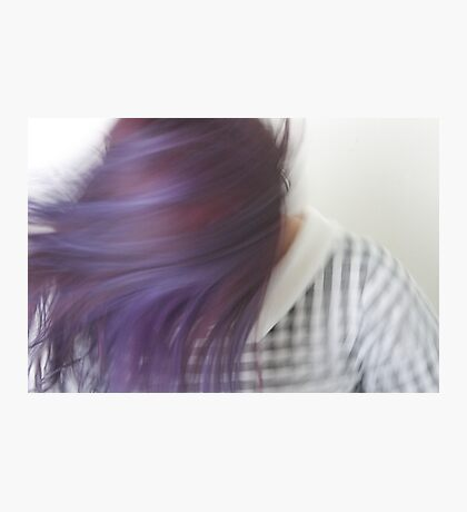 Purple Swish Photographic Print
