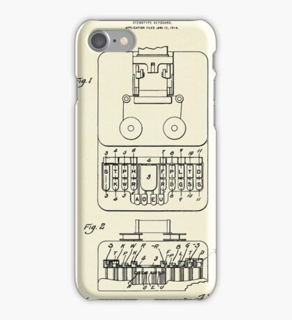 Stenotype Keyboard-1915 iPhone Case/Skin
