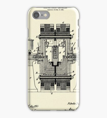 Electric Circuit Controller-1898 iPhone Case/Skin