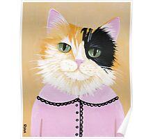 Pretty Fiona the Calico Cat Poster