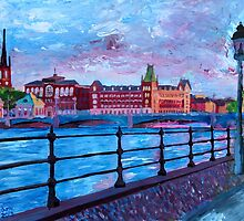 Stockholm City View - Old Town Riddarholmen by artshop77