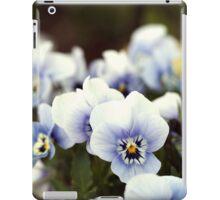 Pansies in garden iPad Case/Skin