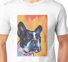 Boston Terrier Bright colorful pop dog art Unisex T-Shirt