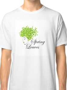 Mother nature with spring leaves as hair  Classic T-Shirt