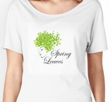 Mother nature with spring leaves as hair  Women's Relaxed Fit T-Shirt