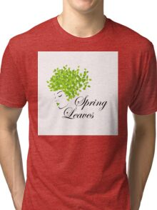 Mother nature with spring leaves as hair  Tri-blend T-Shirt