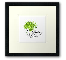 Mother nature with spring leaves as hair  Framed Print