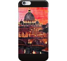 Eternal City - Rome, St Peter at Dusk iPhone Case/Skin