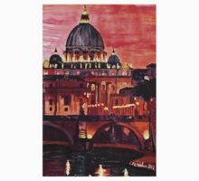 Eternal City - Rome, St Peter at Dusk Kids Tee