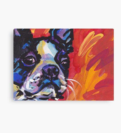Boston Terrier Bright colorful pop dog art Canvas Print