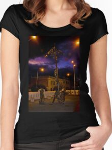 Family Evening Fun II Women's Fitted Scoop T-Shirt