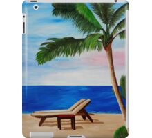 Caribbean Strand with Beach Chairs iPad Case/Skin