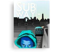 subway lovers Canvas Print