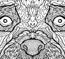Boxer Dog - Detailed Dogs - Illustration Sticker