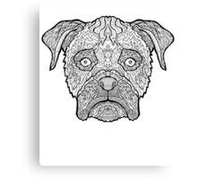 Boxer Dog - Detailed Dogs - Illustration Canvas Print