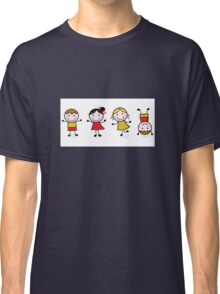 Stitch figures isolated on white Classic T-Shirt