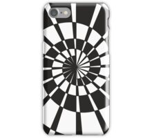 Black and white abstract drawing iPhone Case/Skin