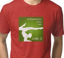 International yoga day june 21  Tri-blend T-Shirt