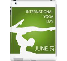International yoga day june 21  iPad Case/Skin