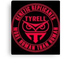 TYRELL CORPORATION - BLADE RUNNER (RED) Canvas Print
