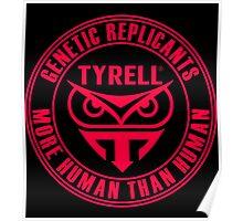 TYRELL CORPORATION - BLADE RUNNER (RED) Poster