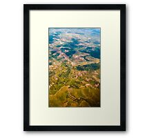 Land from the sky Framed Print
