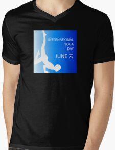 International yoga day june 21  Mens V-Neck T-Shirt